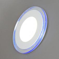 701R-18W-3000K Светильник встраиваемый,круглый,со стеклом,LED-подсветка,18W